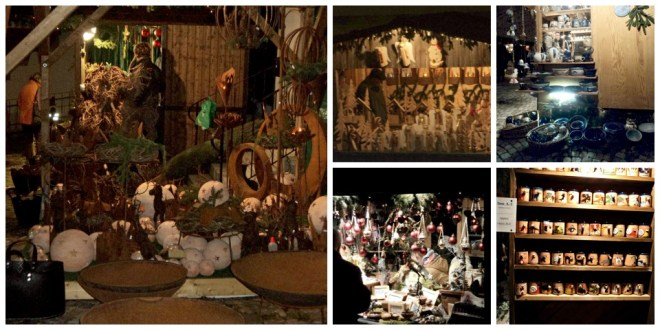 Stand-stand yang Menjual Pernak pernik Taman, Keramik-keramik, Hiasan-hiasan Natal