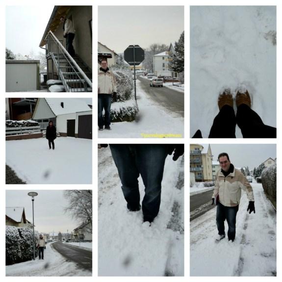 Foto Kami Bermain Salju di Jalanan
