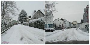 Jalanan di tutupi Salju. Winter Walks. Sinsheim 16 Januari 2013