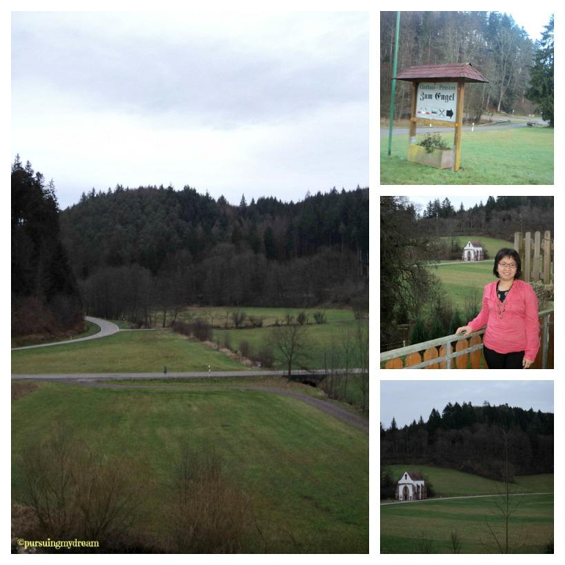 Pemandangan Luar Penginapan dan dari Balkon. at Engel, Tennenbach