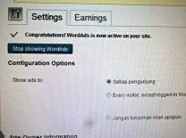 Selesaikan Settingan untuk WordAds