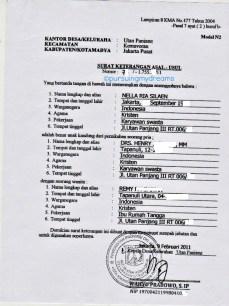 Surat Keterangan untuk Menikah. Model Form N2 dari Kelurahan