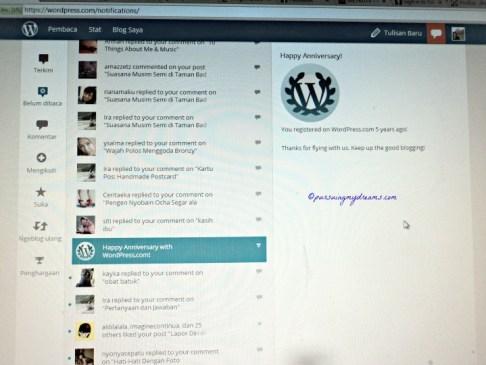 Ucapan Selamat dari WordPress