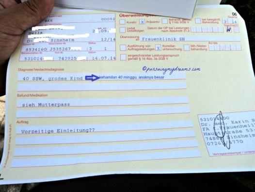 Cerita Melahirkan Melalui Operasi Caesar. Surat rujukan dari dokter kandungan buat ke rumah sakit