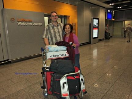 Ibu dan menantu bule. Sudah 2 kali mama mendarat di Jerman. 5 Juli 2014