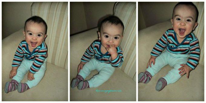 Gayanya Benjamin huahaha. Baby laughing
