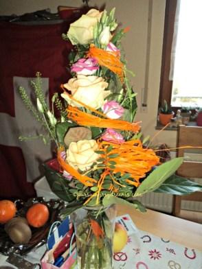 Dikasih buket bunga dalam rangka Benjamin 6 bulan