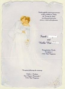 wedding card english