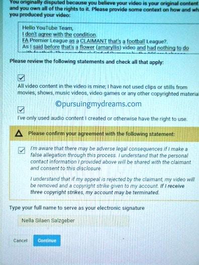 2 Kali Naik Banding Tuduhan Pelanggaran Hak Cipta Youtube. Form biodata pribadi yang harus diisi pada proses banding kedua tuduhan pelanggaran hak cipta youtube