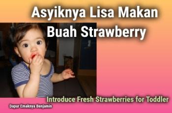 Asyiknya Lisa Makan Buah Strawberry