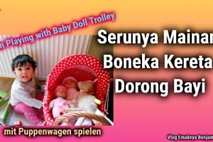 Serunya Mainan Boneka Kereta Dorong Bayi