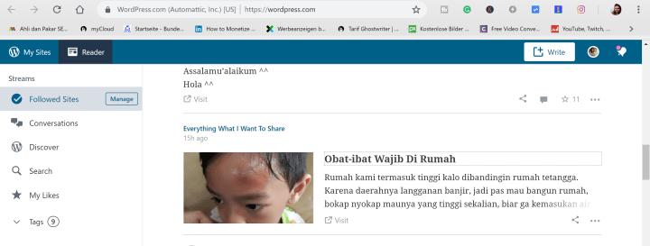 Blogspot bisa dimasukkan ke wp reader
