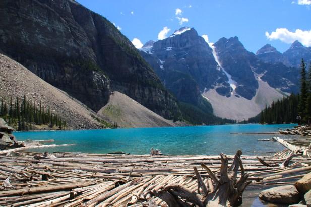 Lake Moraine canoe