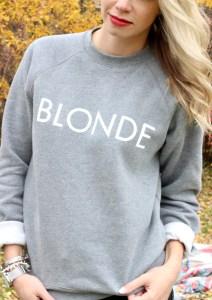 Blonde sweathirt