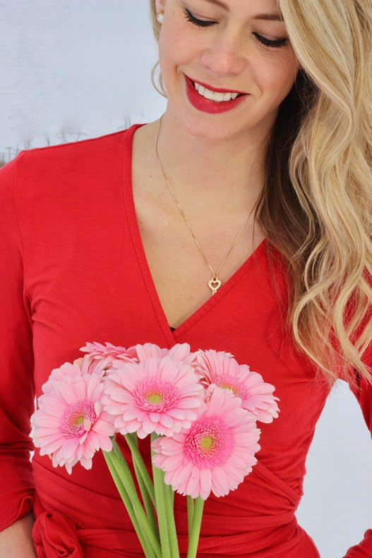 Pretty Winter Makeup and flowers