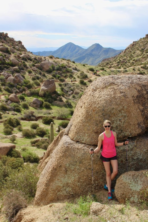 Desert landscape hikes in Scottsdale, Arizona