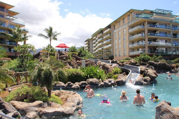 Honua Kai in Maui, Hawaii. Kids pools and water slides.