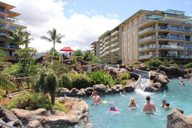 Honua Kai in Maui, Hawaii. Kids pools and water slides.
