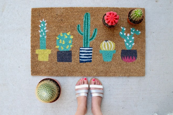 Cactus print home accessories