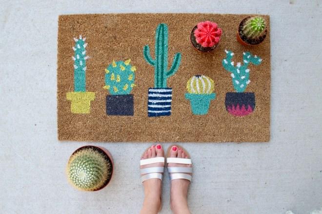 Cactus print home accessories
