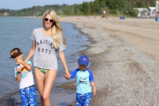 Raising Boys - family fun travel at the beach in Port Stanley, Ontario