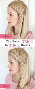 Front Dutch Braid hair inspiration - easy, thick braid for bangs -YouTube Tutorial - Secret Trick to Thick Braids