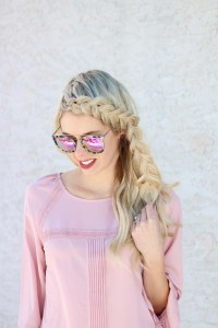 Front Dutch Braid hair inspiration - easy, thick braid for bangs -YouTube Tutorial