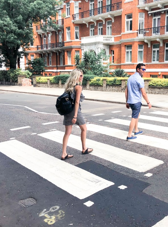 Abbey Road Studios Tour - Zebra Crossing photo from The Beatles album - travel tourism