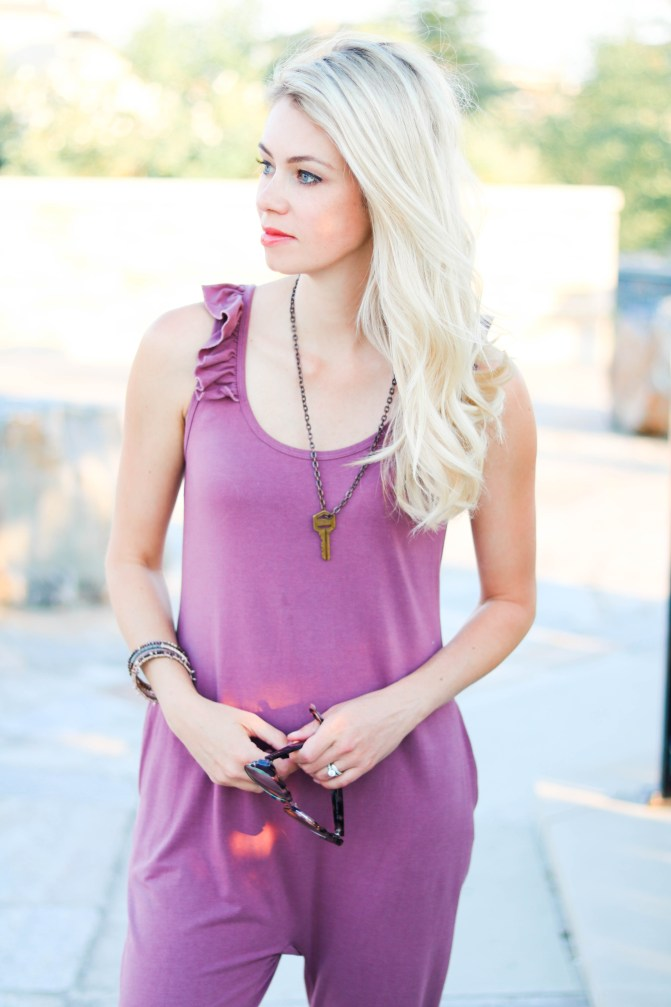 "The ""IT"" Romper! Smash Tess Sweetheart Ruffle sleeveless romper. The most comfortable thing you will ever put on!"