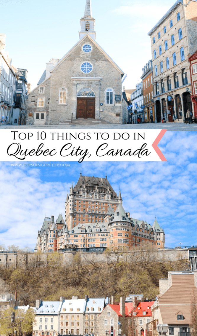 TRAVEL CANADA: Top 10 Things to do in Old Quebec City, Canada. A budget-friendly travel guide. #travel #canada #canadian #quebec