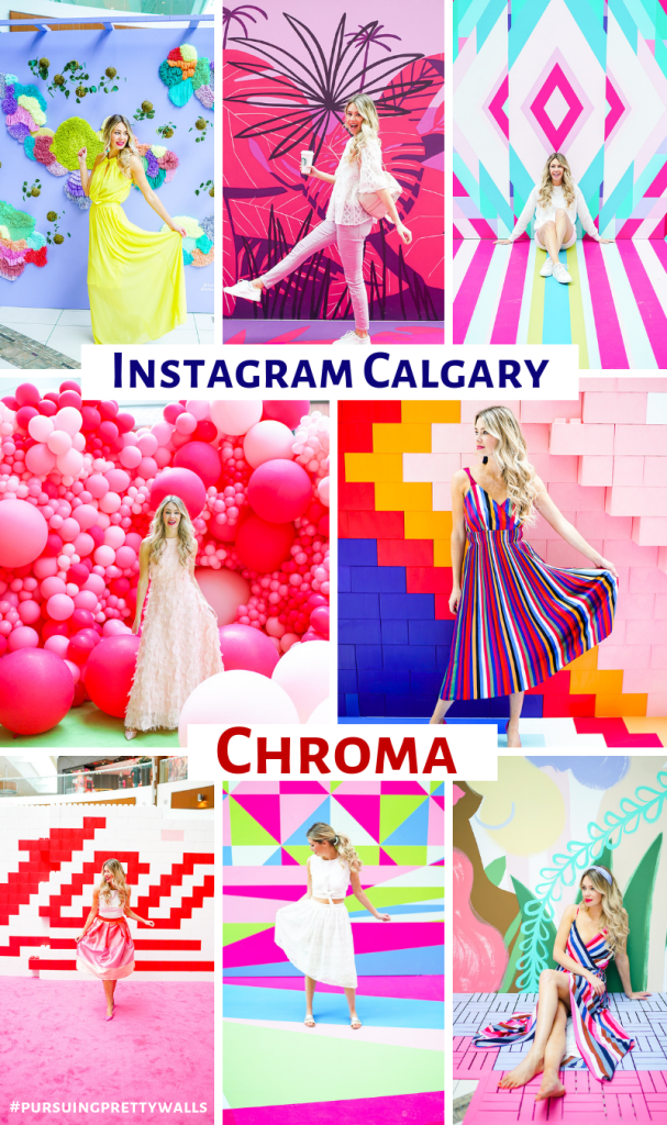 CHROMA Calgary - newest Instagram pop-up walls at South Centre Mall - Pursuing Pretty blog