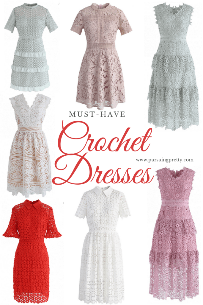 Prettiest crochet dresses online! Shop spring style from Chicwish! #fashion #style #spring #photography