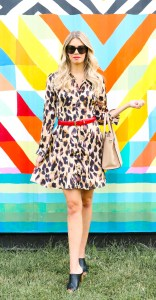 Fall fashion 2019 - leopard dress, wedge heels, red belt - outfit inspiration - fall style 2019