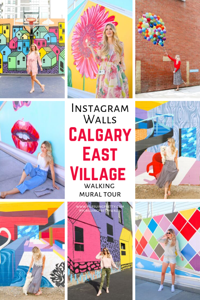 Instagram Wall Tour in Calgary, Alberta. Experience the best walls in Calgary in this walking wall tour! Travel photography - Instagrammable Walls - Instagrammable Places - Calgary Stampede - Pursuing Pretty #travel #instagram #murals #instagramwalls #canada