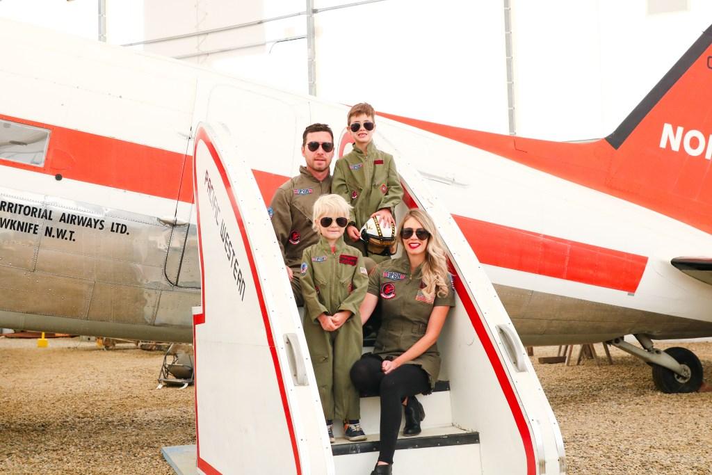Top Gun Halloween Costumes for Family - Goose and Maverick costumes for adults and kids - Halloween costume ideas - #halloween #familycostumes #topgun #halloweencostumes #costumeideas