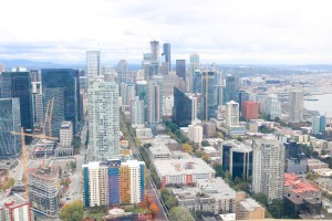 Space Needle views in Seattle, Washington