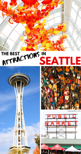The Best Attractions in SEATTLE - A weekend in Seattle itinerary - what attractions that you can't miss! Travel to the Emerald City and experience these GEMS! 2-day travel guide of Seattle, Washington. #travelguide #travel #chihuly #seattle #washington #instagramtravel #instagramphotography #photography