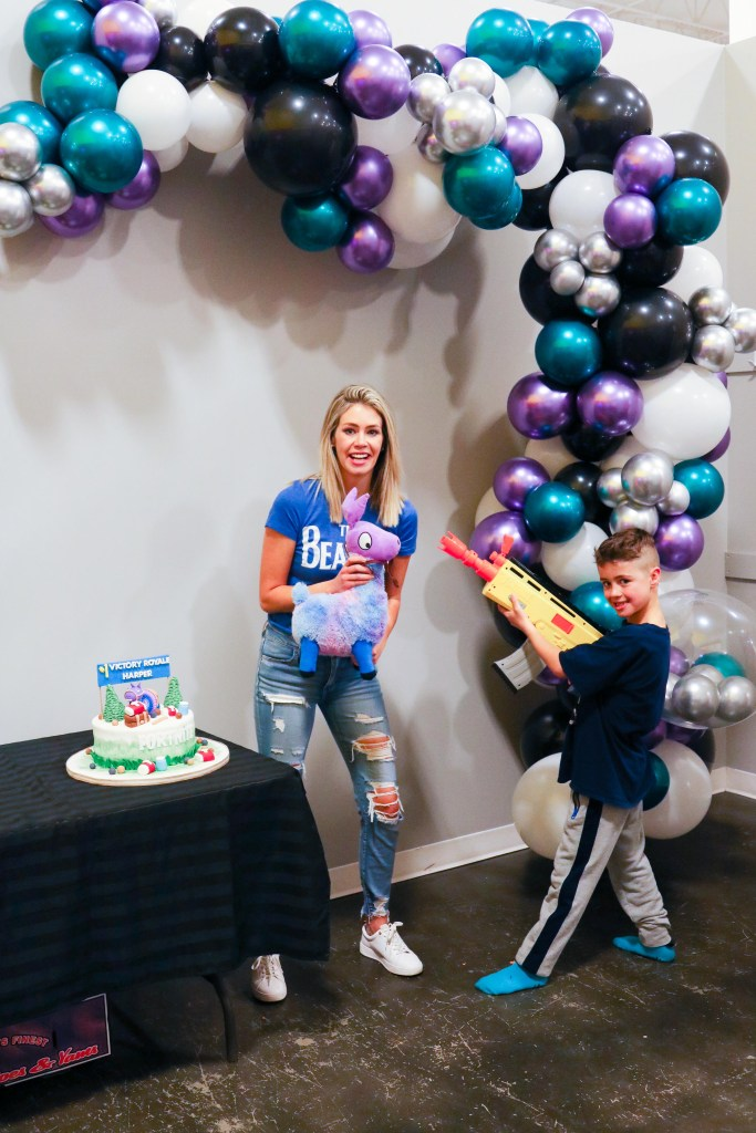 Inflated Dreams balloon garlands for a Fortnite Birthday Party at Injanation