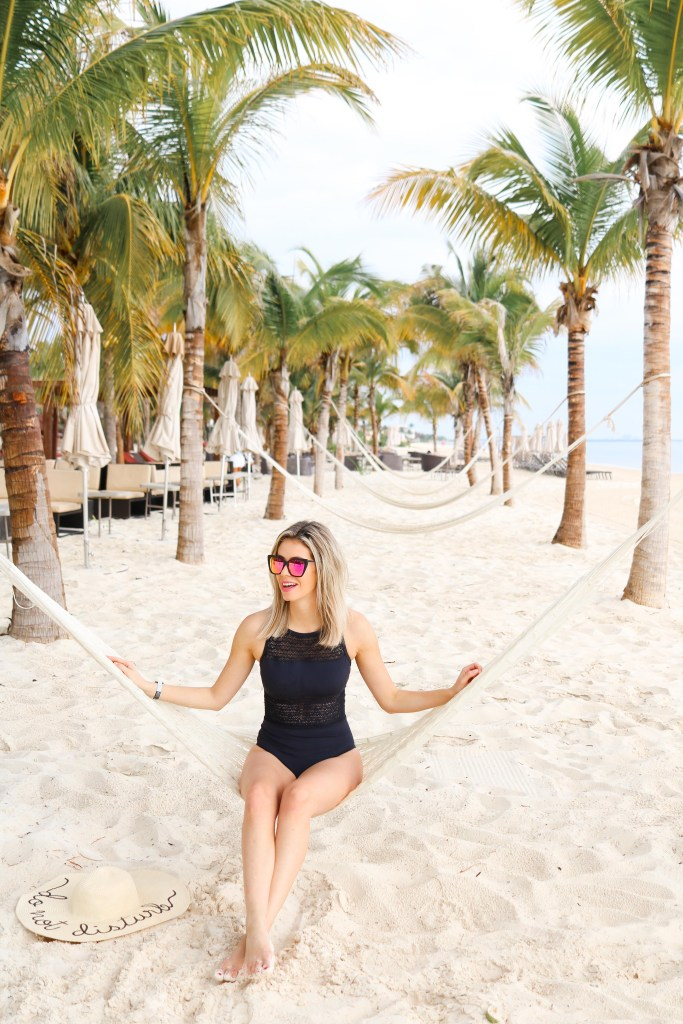 Hammocks and beach vibes in Cancun, Mexico - Instagram Mexico at The Grand at Moon Palace