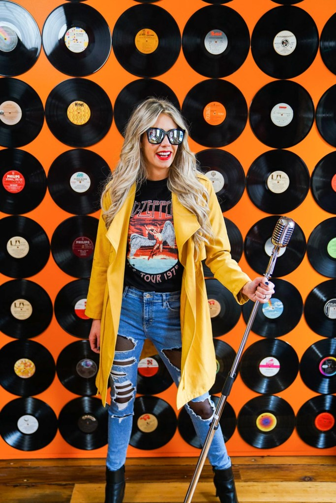 Record Wall in Calgary - Instagram photography studio in YYC - great photos in Calgary, Alberta