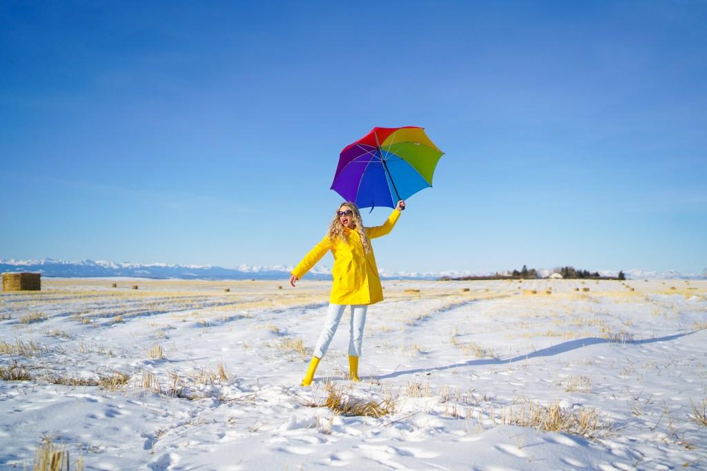 Joe Fresh raincoat and rain boots - affordable fashion