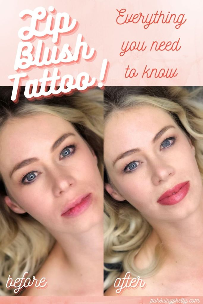 Lip Blush Tattoo before and after! Get all of your questions answered and see the full healing process! #beauty #lipblush #cosmetictattoo