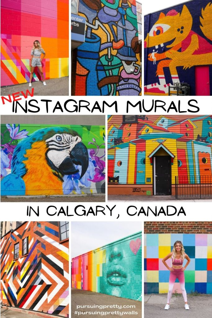 NEW Instagream Murals in Calgary, Alberta, Canada! Find, pose, and snap with this handy mural guide and map! #instagram #travel #calgary #travelguide
