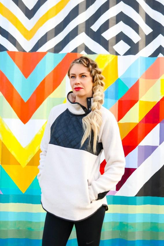 What you Should be Wearing in Winter - Abercrombie Asymmetrical Fleece