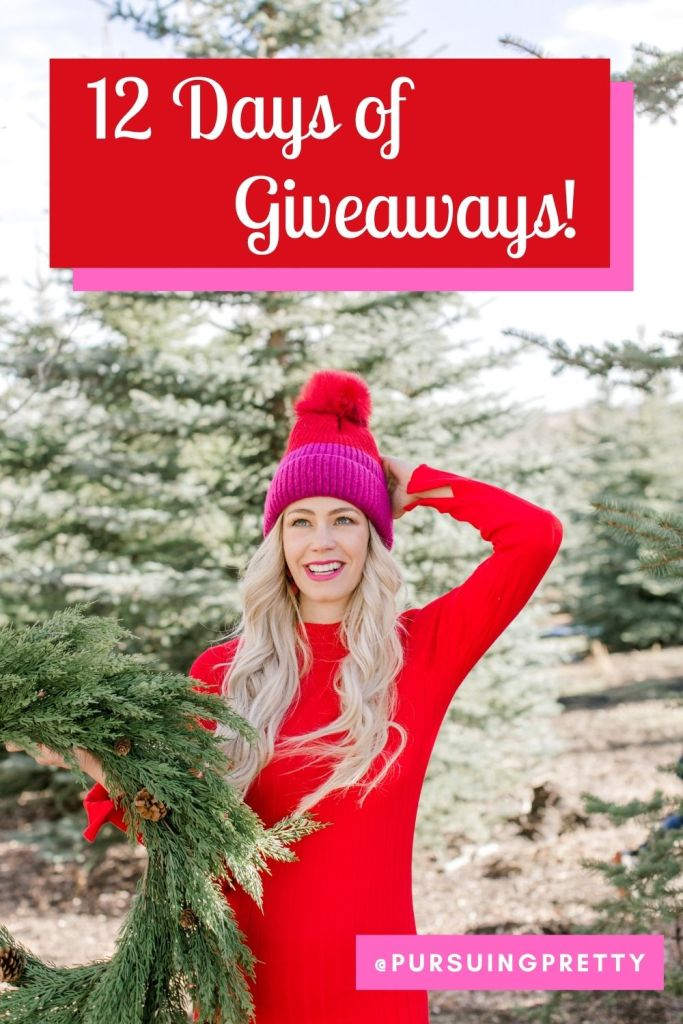 12 Days of Giveaways on Instagram @pursuingpretty Fashion, Beauty, Food, & Travel prizes! Pursuing Pretty