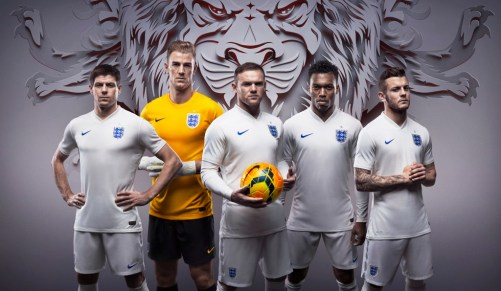England Home Kit 2014