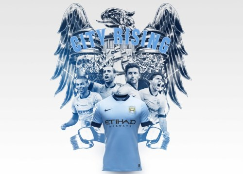 Manchester City Home Kit 2014-15 Group