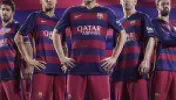 444c6fd2e FC Barcelona Unveil 2015-16 Home and Away Kits