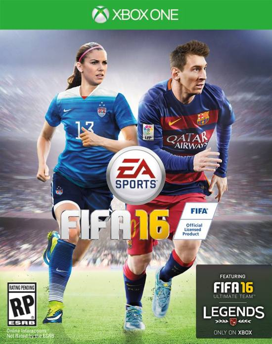 FIFA 16 Alex Morgan Lionel Messi