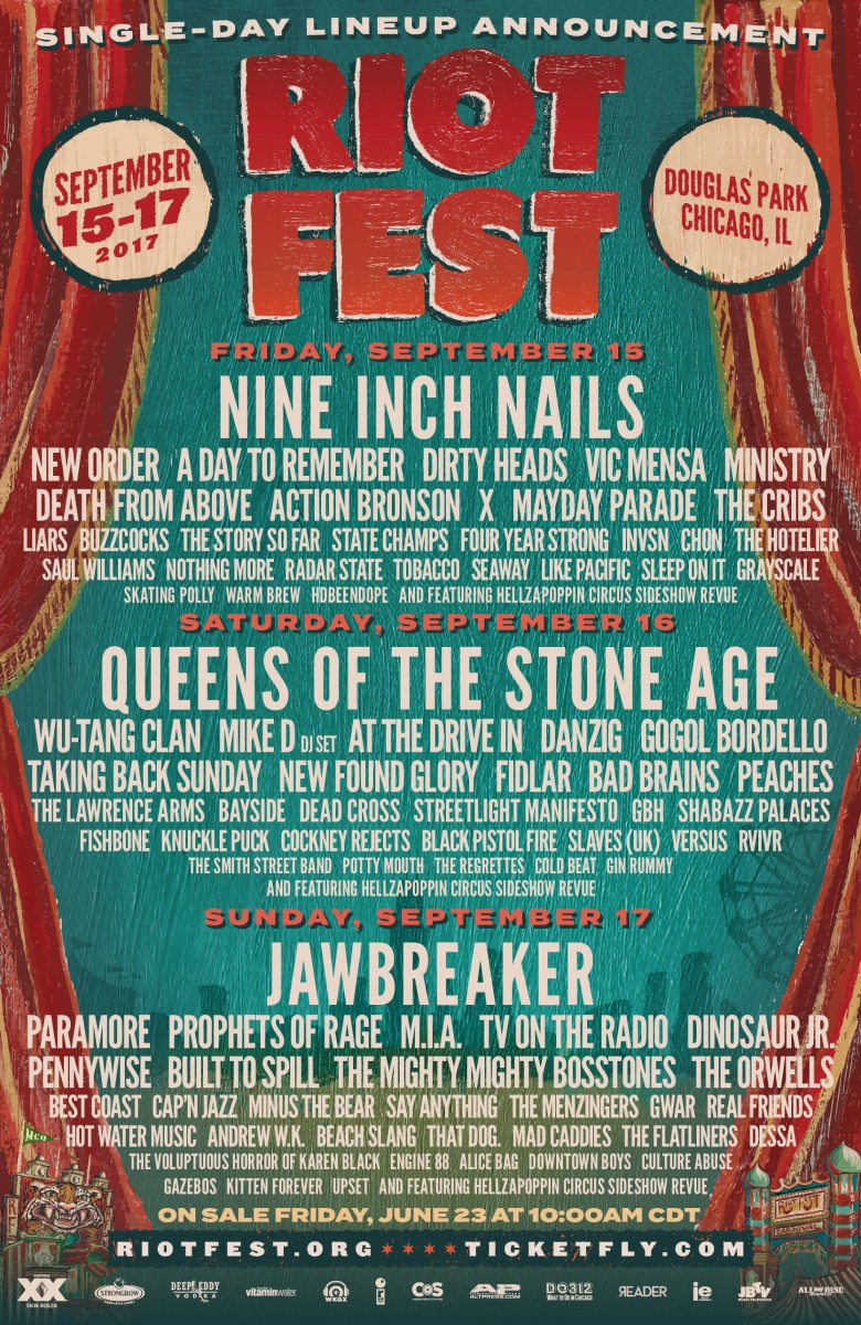 Riot Fest Announces Single-Day Lineups and Adds Danzig to Lineup